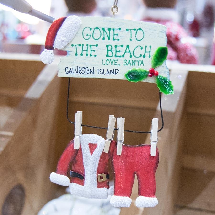 Island Christmas Theme.Nautical Christmas Ornaments In Galveston