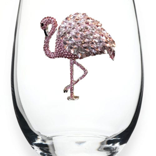 flamingo wine glass
