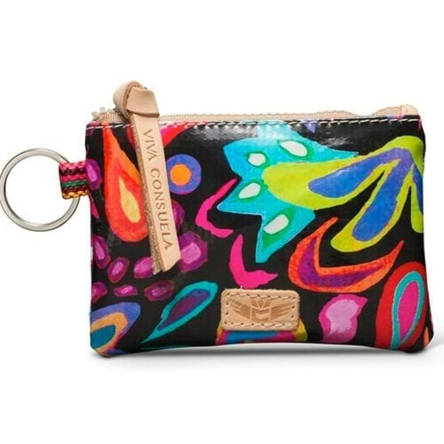 black swirly teeny pouch consuela